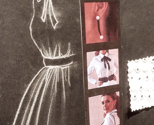 Detalle de cartel con vestido