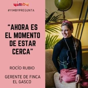 Rocio Rubio, Finca El Gasco, entrevista, bodas, yimby,