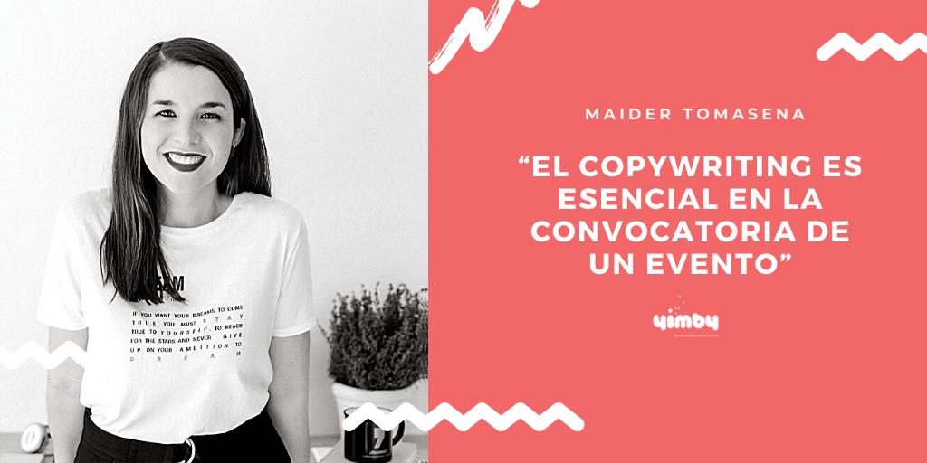 """Maider Tomasena, experta en copywriting, protagonista de la tercera edición de las Charlas Yimby """"El arte de comunicar"""""""