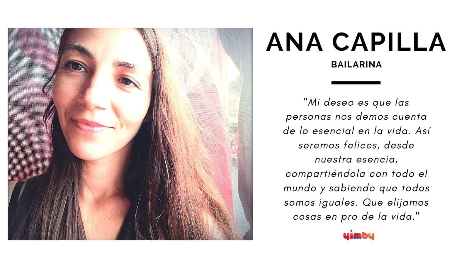 Entrevista a la bailarina Ana Capilla